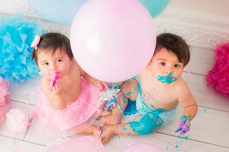 Twins 1st Birthday Professional Photo Shoot, New Jersey award winning professional portrait artist, Pamira Bezmen Photography. www.pamirabezmenphotography.com