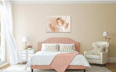 Cottage-Chic Bedroom single canvas Shaya peace angel peach