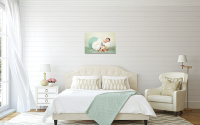 Cottage-Chic bedroom canvas 20x30 gift from god