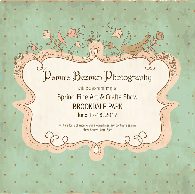 2017-06, Spring Fine Art and Crafts Fair at Brookdale Park, Announcement.1