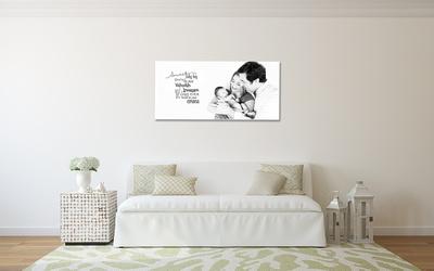 Cottage-Chic couch salon BW canvas Akyuz