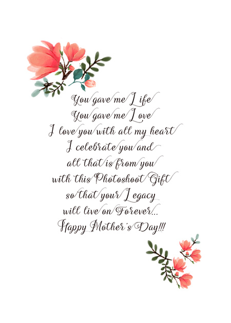 2019, Mother's Day 5x7 card