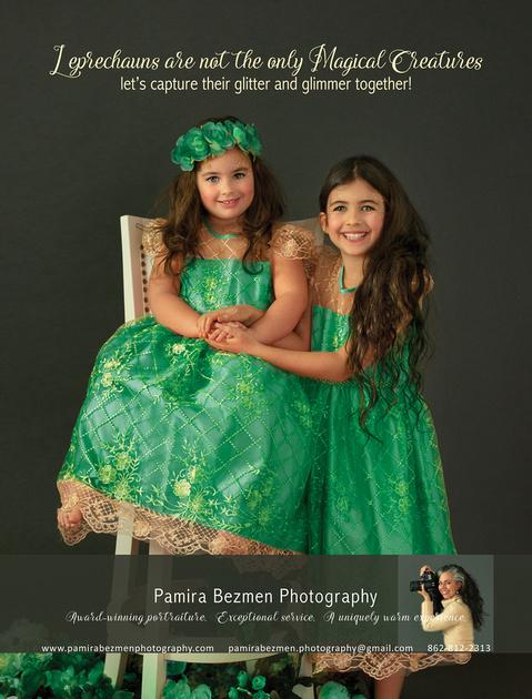 2020-03, Pamira Bezmen Photography Ad, Essex Fells Magazine, 43, RGB