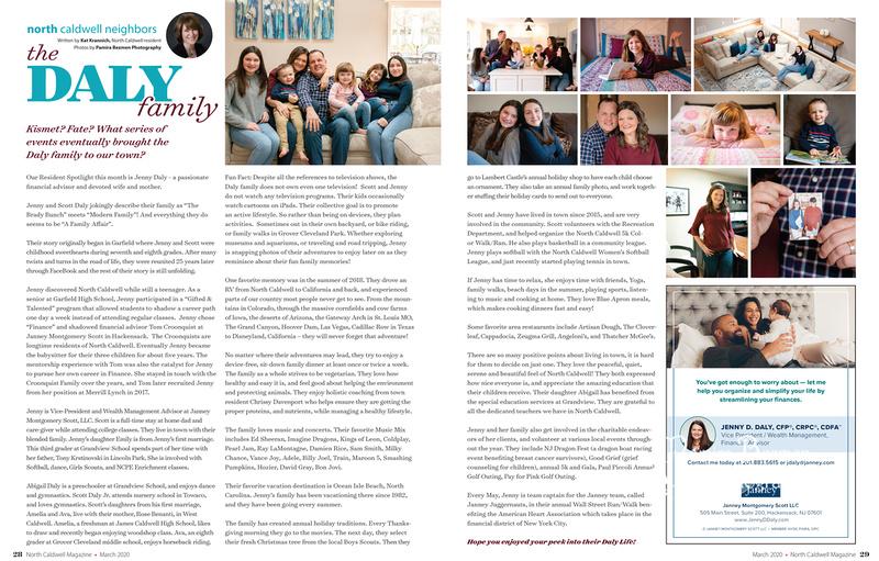 2020-03 North Caldwell Magazine Daly Family, Pamira Bezmen Photography
