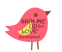 Sign Me Up for Love Newsletter Bird Button