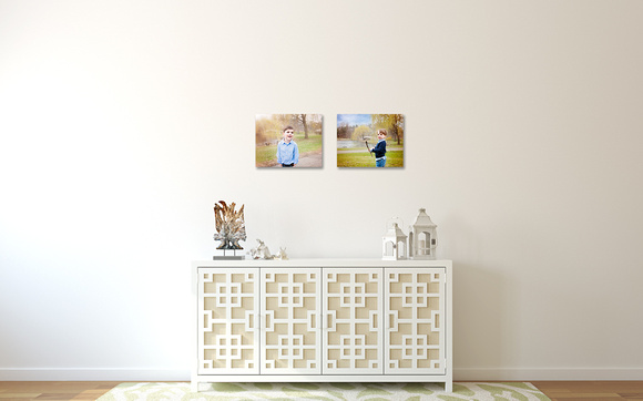 LoveYourWalls Henry Noah 16x20 single canvases in hallway