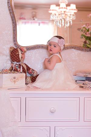 First Birthday Baby Portrait Session, Vintage Vanity Photos, New Jersey family photographer, award winning portraiture, Pamira Bezmen Photography. www.pamirabezmenphotography.com