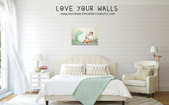Cottage-Chic bedroom canvas 20x30 gift from god LOGO