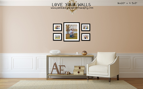 Anchin LoveYourWalls Reflection 16x20 + 4 5x7 prints framed