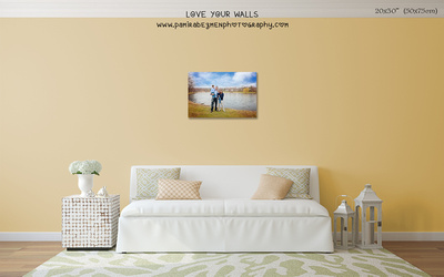 LoveYourWalls Size Chart canvas 20x30