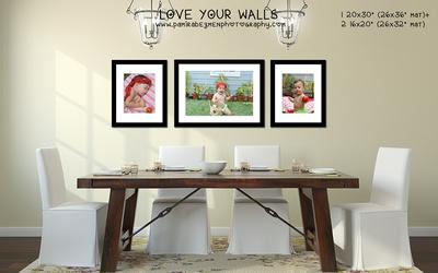 LoveYourWalls Dining Room Tomato baby 20x30 + 2 16x20 prints