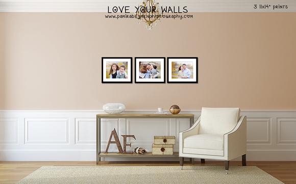 Anchin LoveYourWalls 3 11x14 prints framed