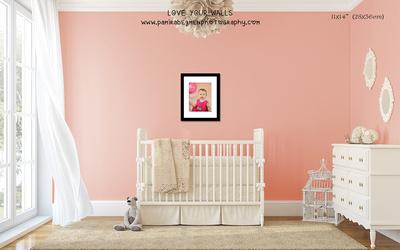 LoveYourWalls Size Chart nursery single frame 11x14