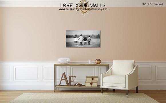Anchin LoveYourWalls 20x40 canvas 4 kids BW