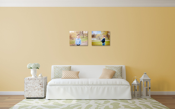 LoveYourWalls Henry Noah 16x20 canvases living room