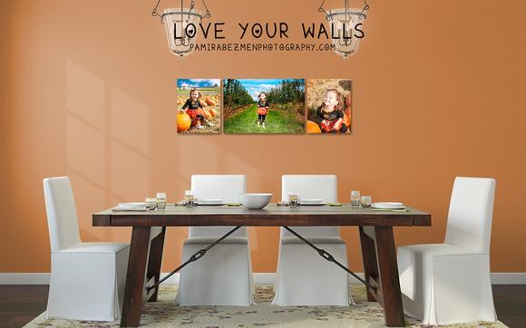 Cottage-Chic dining room orange harvest Trilogy LOGO