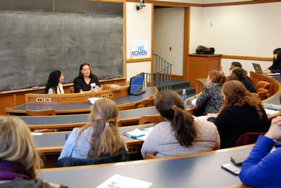 Pamira Bezmen and Pinar Kaftancioglu. February 2015. 7th Annual Women's Leadership Initiative Conference at Yale University, USA.